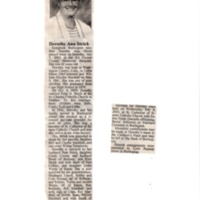 Obituary for Dorothy Strick